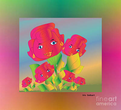 Digital Art - Flower Power by Iris Gelbart