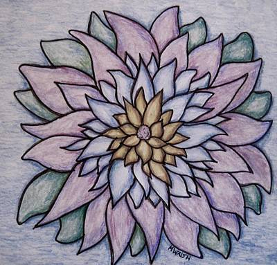 Drawing - Flower Power by Megan Walsh