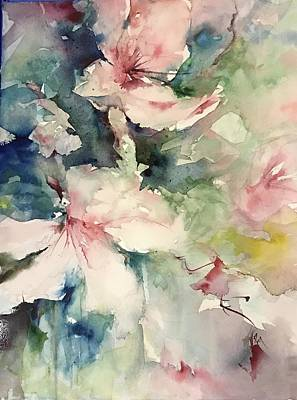 Painting - Flower Series 2017 by Robin Miller-Bookhout