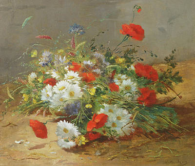 Bundle Painting - Flower Study by Eugene Henri Cauchois