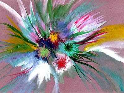 Flowers Art Print by Anil Nene