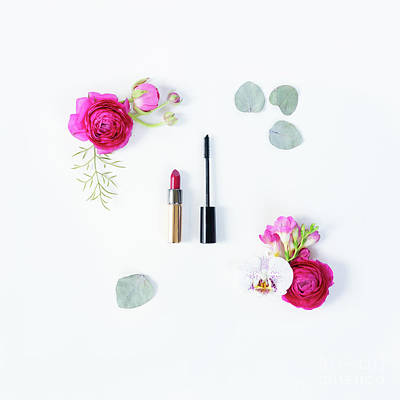 Photograph - Flowers And Make Up by Anastasy Yarmolovich