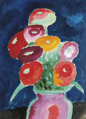 Painting - Flowers In A Vase by Alexej von Jawlensky