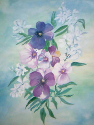 Painting - Flowers In The Mist by Seema Sharma