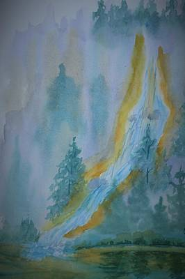 Painting - Flowing Falls by Warren Thompson