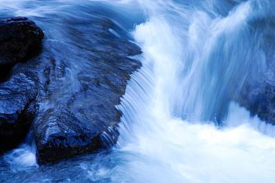 Photograph - Flowing Water by Larry Ricker