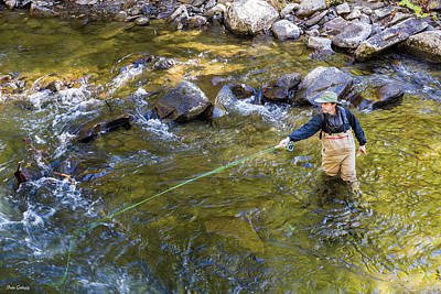 Photograph - Fly Fisherman by Fran Gallogly