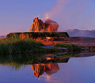 Photograph - Fly Geyser At Dawn by Sean Sarsfield