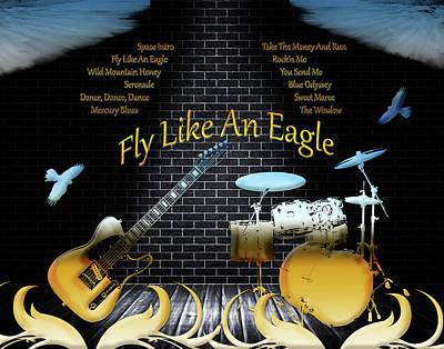 Digital Art - Fly Like An Eagle by Michael Damiani