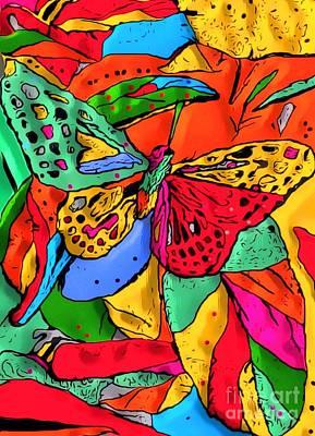 Digital Art - Fly My Butterfly By Nico Bielow by Nico Bielow