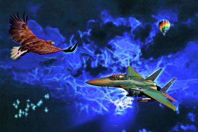 Digital Art - Flying by John Haldane