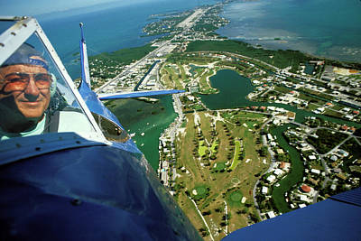 Photograph - Flying Over Florida Keys by Carl Purcell