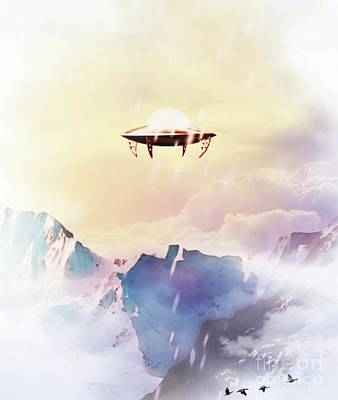 Science Fiction Royalty-Free and Rights-Managed Images - Flying Saucer - UFO by Raphael Terra