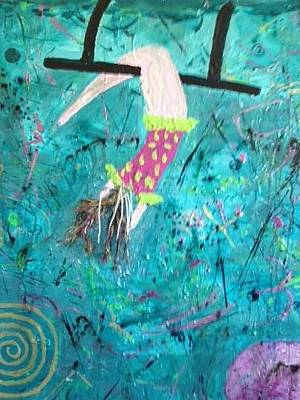 To Heal Painting - Flying Without A Net by Annette McElhiney