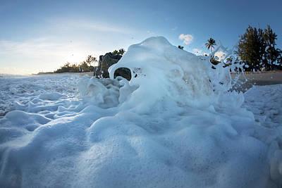 Photograph - Foam Elephants by Sean Davey