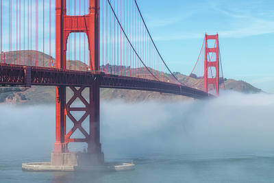 Photograph - Fog And The Golden Gate by Jonathan Nguyen