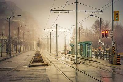 Digital Art - Fog Deserted Street by Nicky Jameson