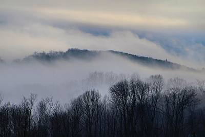 Photograph - Fog In The Mountains by Kathryn Meyer