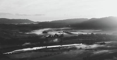 Photograph - Fog In The Valley At Dawn by Unsplash