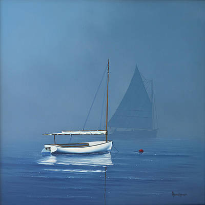 Painting - Foggy Start by Kenneth F Aunchman