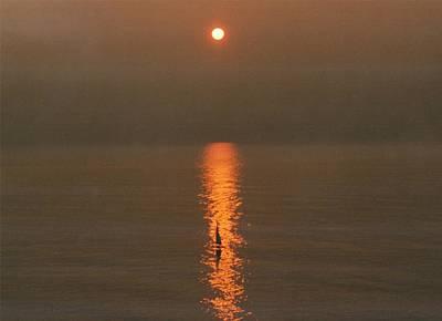 Foggy Sunrise On Virginia Beach Art Print