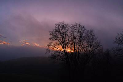 Photograph - Foggy Sunset by Kathryn Meyer