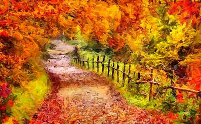 Fall Foliage Path 2 Art Print