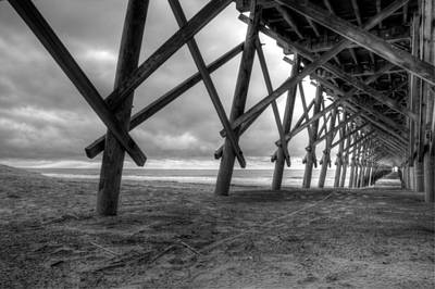 Folly Beach Pier Black And White Original by Dustin K Ryan