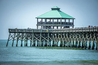 Photograph - Folly Beach Pier In Charleston South Carolina by Alex Grichenko