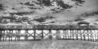 Beach Photograph - Folly Beach Pier  by Todd Wise