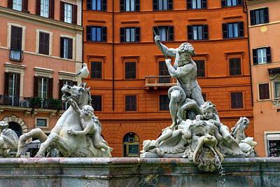 Photograph - Fontana Del Nettuno, Fountain Of Neptune, Piazza Navona, Roma, Italy by Elenarts - Elena Duvernay photo