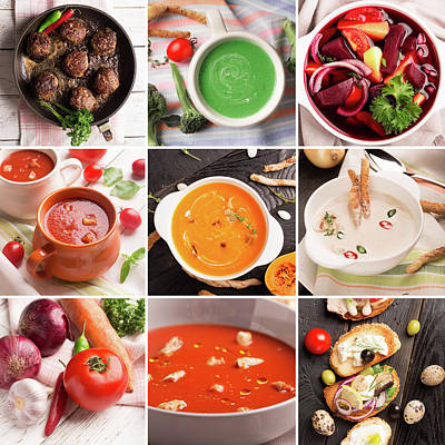 Tomato Puree Photograph - Food Photo Collage by Vadim Goodwill