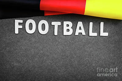 Photograph - Football Background by Anna Om