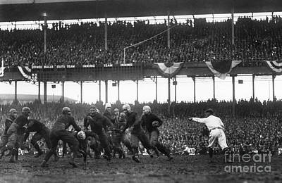 Spectators Photograph - Football Game, 1925 by Granger
