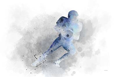 Digital Art - Footballer  by Marlene Watson