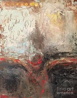 Ann Holder Painting - For God So Loved by Ann Holder