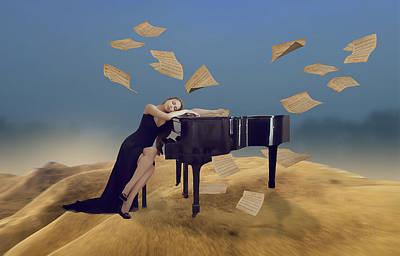 Mixed Media - Dreaming Of Playing My Piano by Marvin Blaine