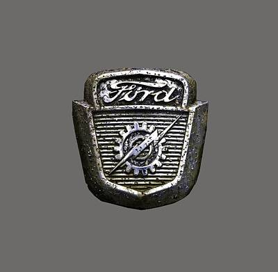 Photograph - Ford Emblem by Debra and Dave Vanderlaan