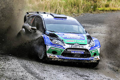 Ford Focus Wrc Rally Gb Art Print