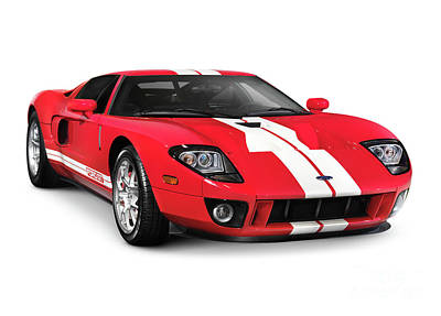 Supercars Photograph - Ford Gt Supercar by Oleksiy Maksymenko