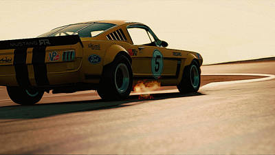 Photograph - Ford Mustang Rtr 1966 - 7 by Andrea Mazzocchetti