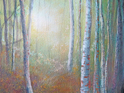 Painting - Forest Gloaming by Lisa Le Quelenec