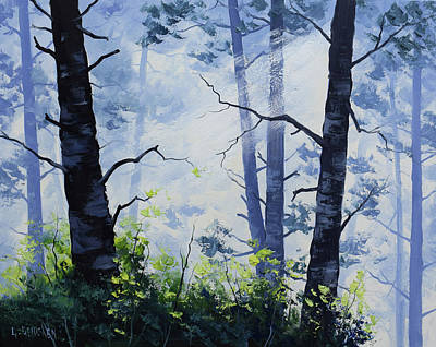 Rays Painting - Forest Light by Graham Gercken