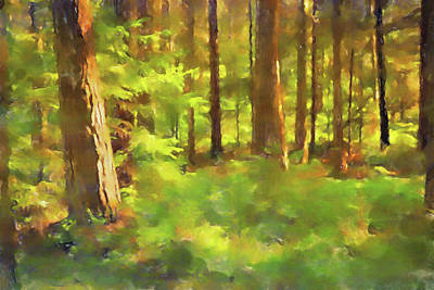 Painting - Forest Light by Lutz Baar