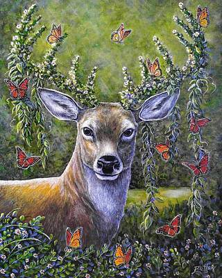 Painting - Forest Monarch by Gail Butler