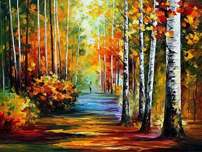 Andscape Painting - Forest Road by Leonid Afremov