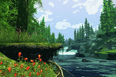 Painting - Forests And Rivers by Andrea Mazzocchetti