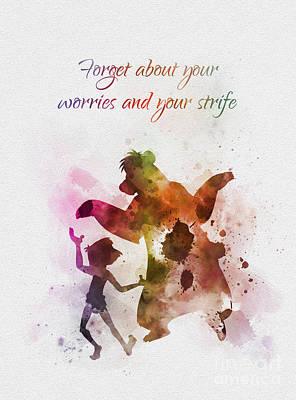 Mixed Media - Forget About Your Worries by Rebecca Jenkins