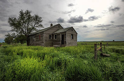 Rainy Day Photograph - Forgotten On The Prairie by Aaron J Groen