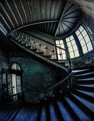 Photograph - Forgotten Staircase by Jaroslaw Blaminsky
